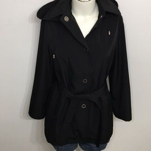 Liz Claiborne Black Soft Shell Fall Jacket Small